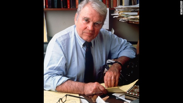 Legendary CBS News commentator Andy Rooney, who died in 201