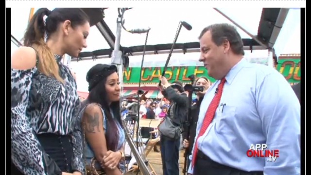Snooki and Christie meet on Jersey Shore