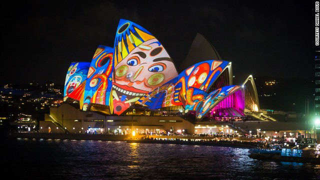 The Sydney Opera House took center stage at the opening of the Vivid Sydney festival.