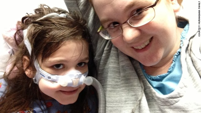 Sarah and her mother, Janet Murnaghan, before the lung transplant.