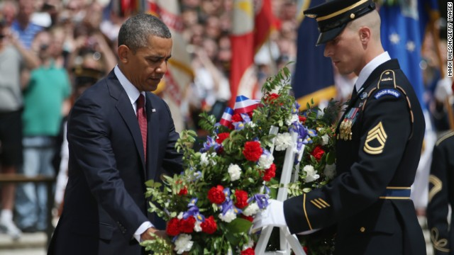 Obama gives Memorial Day speech amid military, administration controversies