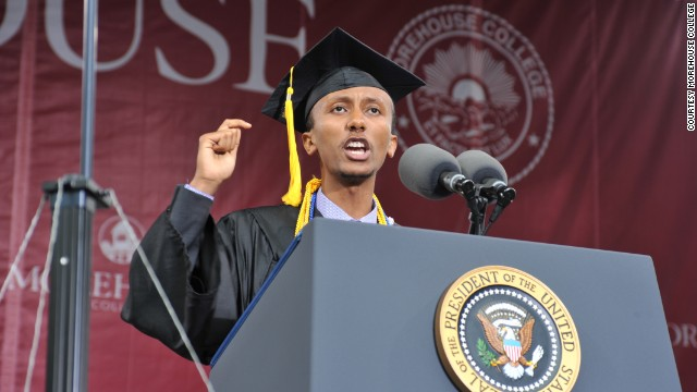 'Skinny guy with a funny name': Morehouse valedictorian's long journey to graduation