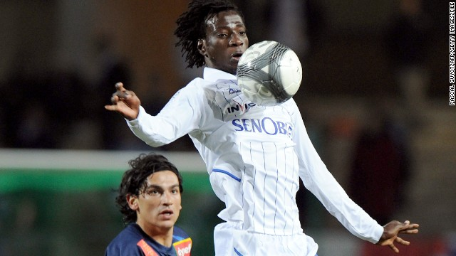 Last summer Monaco spent $6.4 million on Delvin N'Dinga, who is pictured here chesting down the ball, in buying the Congolese international from Auxerre. Former Monaco chief executive Tor Kristian Karlsen questioned whether Monaco's tax dispute with the French football authorities might prompt the club to stop buying players from Ligue 1 clubs.