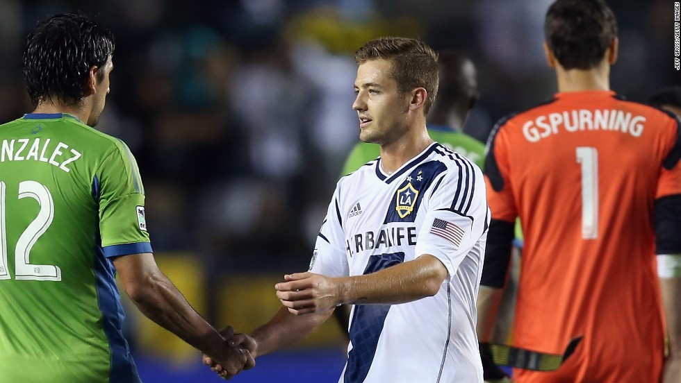 Robbie Rogers became the first openly gay male athlete to play in a professional American sporting match May 26 when he took the field for Major League Soccer's Los Angeles Galaxy during a match against the Seattle Sounders. Take a look at other openly gay athletes.