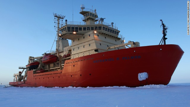 For more than two months, this 94-meter ship was home to a team of scientists researching Antarctica's unique eco-system.