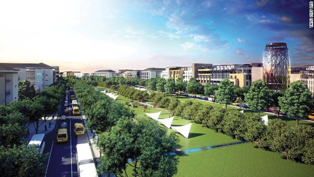 Tatu City, some 15 kilometers north of Nairobi, is being developed by Rendeavour, the urban development branch of Mosco