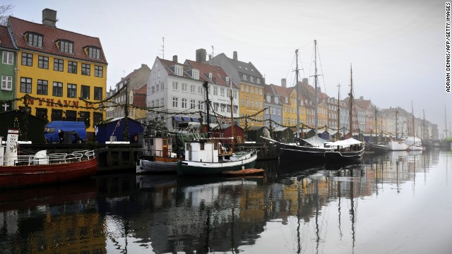 A general view of a canal in the Nyhaven area of Copenhagen in 2009. Denmark is the world's happiest nation, according to the <a href='http://unsdsn.org/wp-content/uploads/2014/02/WorldHappinessReport2013_online.pdf' target='_blank'>2013 World Happiness Report</a> from Columbia University's Earth Institute. The report was issued in September.