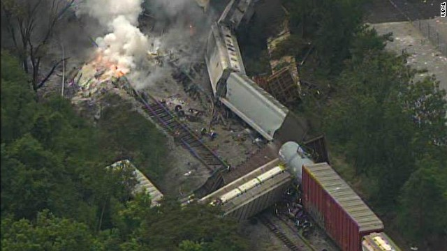 Un tren de carga descarrila en Maryland y obliga a evacuar la zona