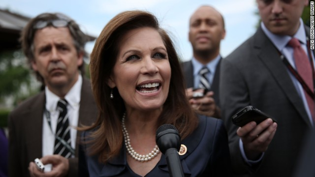 <a href='http://politicalticker.blogs.cnn.com/2013/05/29/rep-bachmann-looks-forward-to-limitless-future-but-not-in-the-house/'>U.S. Rep. Michele Bachmann has announced </a>she won't seek re-election to Congress. In a video posted on her campaign website Wednesday, May 29, the Minnesota Republican denied that concerns over winning re-election or a congressional ethics inquiry over campaign funds influenced her decision. Known as a voice for the tea party, the conservative firebrand ran unsuccessfully for the 2012 GOP presidential nomination. Bachmann, pictured on May 16, discusses the scandal of the Internal Revenue Service targeting tea party groups. Here's a look back at her career: