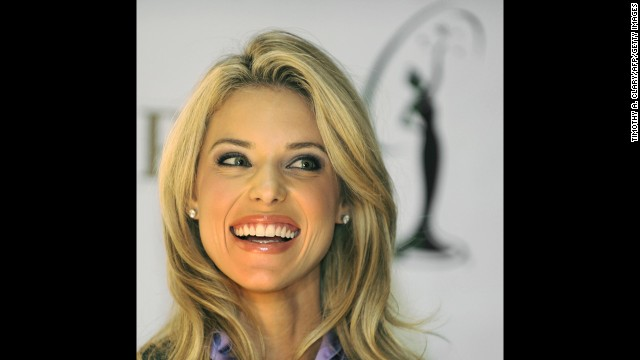 "Carrie Prejean was stripped of her Miss California USA title in 2009 and after a long legal battle with the contest. The contest dethroned her and said lingerie-modeling photos emerged that breached her contract. Prejean sued the contest, claiming her firing was religious discrimination because of her opposition to same-sex marriage, and the pageant counter-sued. It ultimately ended after the revelation of a ""sex tape."" Pictured, Prejean addresses a press conference at Trump Tower in May 2009."