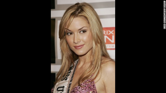 Tara Conner almost lost her 2006 Miss USA title over substance abuse and rehab, and came clean after her wild partying made national headlines. She was allowed to keep her crown. Here, Conner attends the Entertainment Weekly and Matrix Men upfront party at The Manor in New York, May 2006.