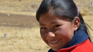 Eulalia is 10 years old and lives in the Puno region of Peru.