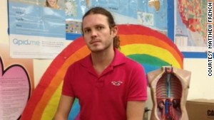 Health teacher Matthew French introduced his ninth-grade class to the Qpid.me website.