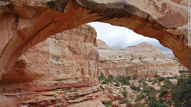 Bergsma's other favorite national park is Capitol Reef National Park in Utah, where he loves the off-trail hiking.