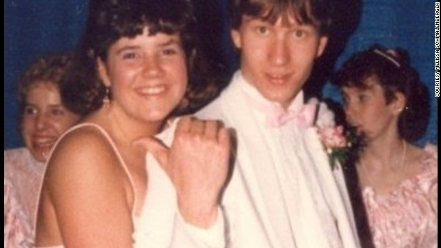 "1986: <a href='http://ireport.cnn.com/docs/DOC-773450'>Melissa Schmalenberger </a>knew the first time she laid eyes on Ray Ridl that she wanted to go with him to the prom. She says of her now-husband, ""We have three boys and I just can't imagine how different my life would be if I hadn't been in the right place at the right time!"""