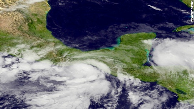 Hurricane Barbara moves over Mexico