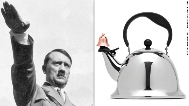 Some people see Hitler when they look at this teapot from JCPenney. The company says that any resemblance was unintentional.