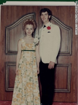 "1968: <a href='http://ireport.cnn.com/people/pathill3'>Patricia Helen Hill</a> and her future husband, Bob, went to the Westwood High School prom in Winnipeg, Manitoba. ""My mother actually made the dress and it was very heavy,"" she said, ""more like drapery material."" She changed out of the dress after the dance and went on a riverboat cruise. ""Everyone at the prom was invited!"" she said."
