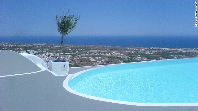 You can seize the day and get naked on the slopes of Pyrgos village overlooking Fira, capital of Santorini. This boutique hotel prides itself on the privacy of its 10 suites.