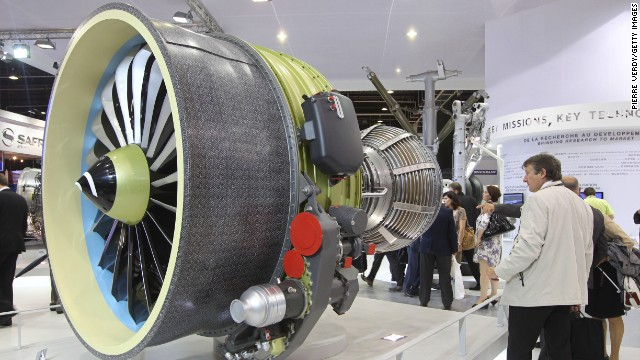 The LEAP engine on display at the Paris International Air Show in 2011