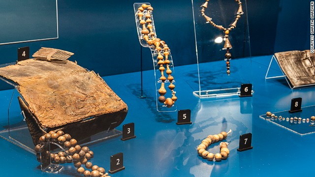 The Mary Rose sank during the time when Henry VIII was banning Catholicism in England, but rosary beads weren't yet illegal. As the Mary Rose was the King's ship it's assumed that rosary beads were still in regular use at this time.