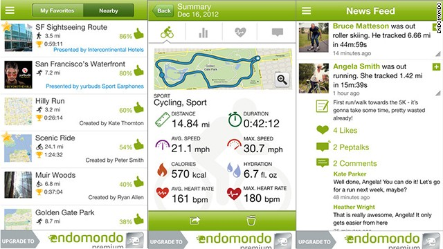 One of the more social tracking apps, <a href='http://www.endomondo.com' target='_blank'>Endomondo</a> offers public challenges for a variety of sports. Leaderboards show things like who had logged the most walking miles for the month or spent the most time being active, as well as comments from participants. The apps have a newsfeed for communicating with workout buddies in real time.