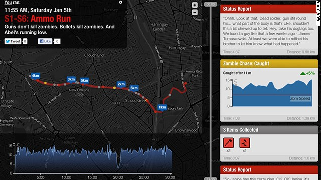 This brilliant app turns regular workouts into a survival scenario. In <a href='https://www.zombiesrungame.com' target='_blank'>Zombies, Run!</a> you must outrun the undead on missions to collect supplies while following a story of a zombie apocalypse. There's nothing like fleeing bloodthirsty zombies to get the heart rate pumping.