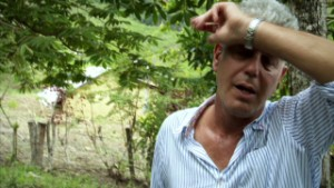 Bourdain feels the burn on cacao quest