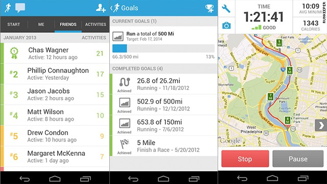 The <a href='http://runkeeper.com' target='_blank'>RunKeeper</a> community is enthusiastic, global and supportive. The mobile app lets you find new running friends based on your location, or search for people who are at the same fitness level as you.