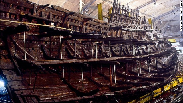 After more than 400 years at the bottom of the ocean, the<i> </i>Mary Rose, King Henry VIII's key warship, is the centerpiece of a new museum in Portsmouth, England, located at the same dockyard where it was built.
