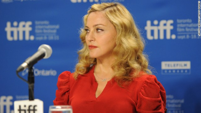 "Madonna was on her best behavior at the ""W.E."" news conference, seen here during the 2011 Toronto International Film Festival. But at the Venice Film Festival that same year, she <a href='http://www.youtube.com/watch?v=wTiZz_Poc74' target='_blank'>was caught saying ""I absolutely loathe hydrangeas""</a> after a fan gave her the flowers."
