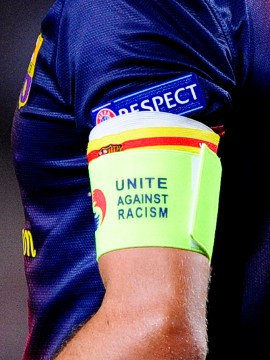European football's governing body, UEFA also passed new laws on racism. They introduced a minimum 10-match ban for racist abuse by players or officials and escalating measures for clubs including fines and stadium closures for repeat offenders.