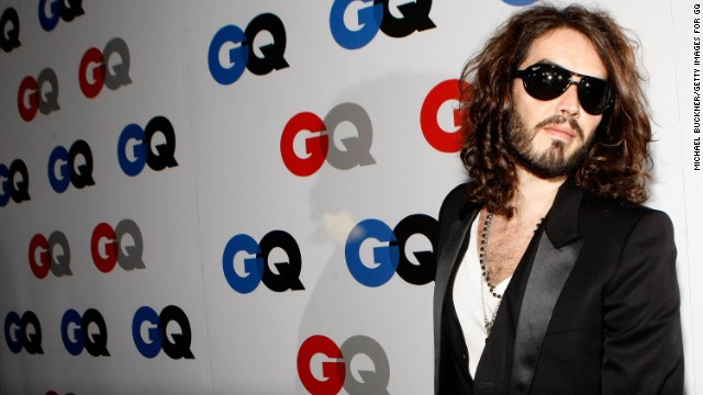 Russell Brand arrives at the GQ Men of the Year party on November 18, 200
