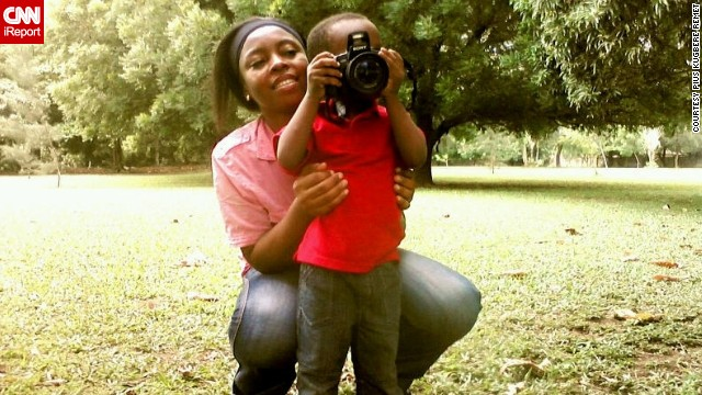 """I hope he grows up to become a larger than life photographer, who'll explore his natural platform to impact remarkably on the course of humanity,"" says proud dad Pius Kugbere Remet, himself an artist and graphic designer."