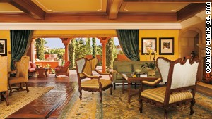Six-large gets you lots of European antiques at the Mediterranean-inspired Brisa Villas at San Diego\'s Grand Del Mar.