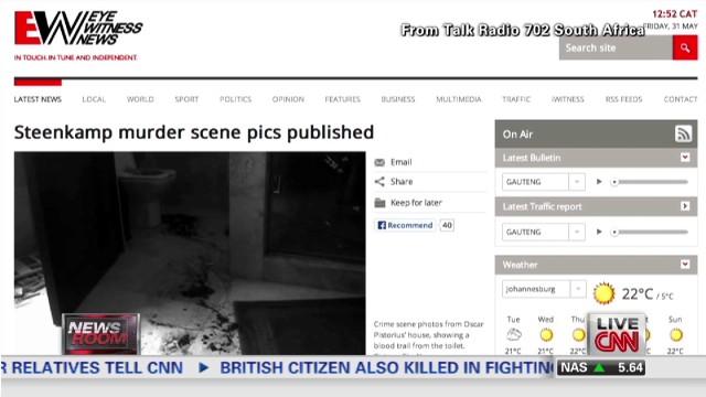 Salen a la luz fotos de la sangrienta escena del crimen de Oscar Pistorius