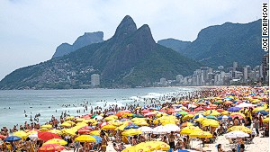 Ipanema Beach: A good place to flaunt your gorgeous umbrella.