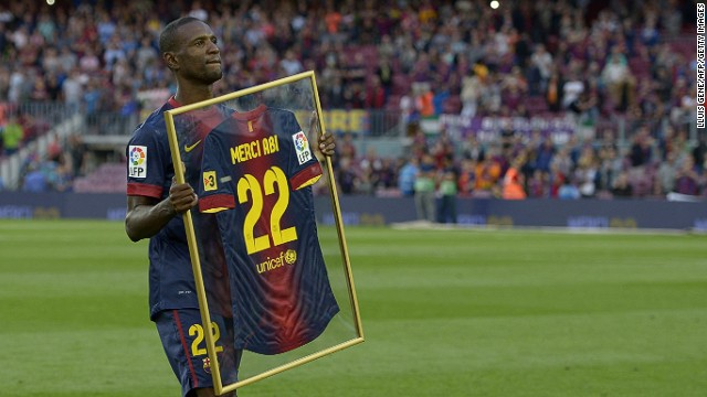 Barcelona said farewell to French defender Eric Abidal, who made his final appearance in the 4-1 win over Malaga, having been told he will be released despite returning following a liver transplant.