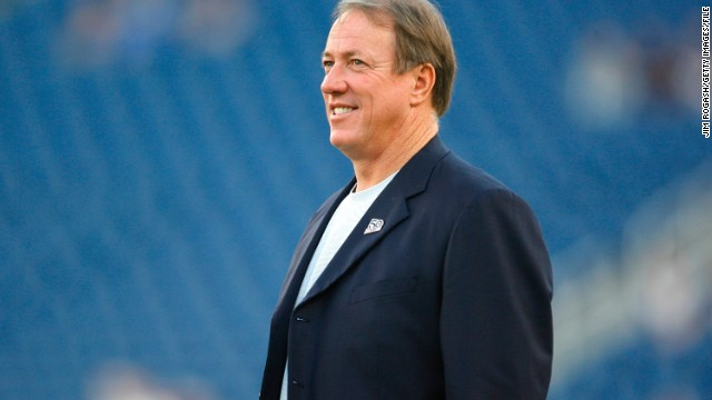 "Buffalo Bills Hall of Fame quarterback Jim Kelly has been <a href='http://bleacherreport.com/articles/1659872-buffalo-bills-legend-jim-kelly-to-undergo-surgery-for-cancer-in-jaw' target='_blank'>diagnosed with cancer of the upper jaw bone</a>. ""Doctors have told me that the prognosis for my recovery is very good,"" <a href='http://www.buffalobills.com/news/article-2/A-statement-from-Jim-Kelly/931d9214-0f2b-435d-a068-28c07a98ade7?campaign=tw_buf_article' target='_blank'>Kelly said in a statement from his former club</a>. Indeed, in August 2014, <a href='http://www.cbssports.com/nfl/eye-on-football/24719421/as-seen-on-the-nfl-today-jim-kelly-and-his-battle-with-cancer' target='_blank'>Kelly was told</a> that he was cancer free."