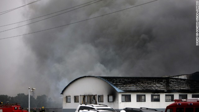 Smoke billows from a large poultry processing plant in Mishazi Township of Dehui City in northeast China's Jilin Province on Monday, June 3. <a href='http://www.cnn.com/2013/06/03/world/asia/china-fire/index.html'>More than 300 workers were inside the plant</a> when the fire broke out about 6 a.m., the state-run Xinhua news agency said. More than 100 people were reported killed in the fire.