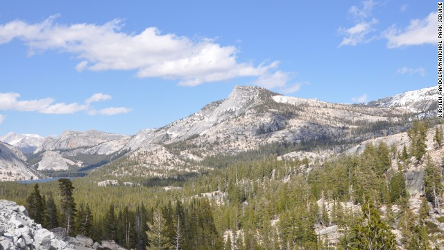 Visitors with limited time at the park should try to see Olmsted Point, shown here along the Tioga Road, looking east toward Tenaya Lake.
