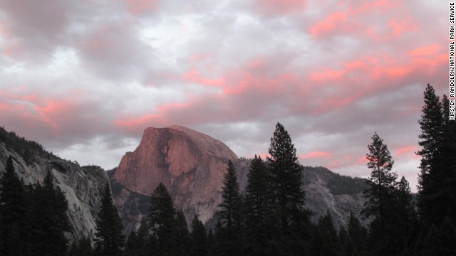 Another view of Half Dome from Cook's Meadow shows the glorious colors at sunset.