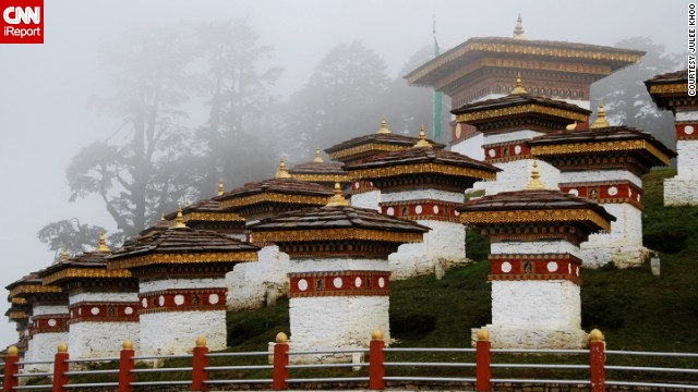 "Julee Khoo says Bhutan is ""as close to a Himalayan utopia as you can get."" This hillside is part of a <a href='http://ireport.cnn.com/docs/DOC-961669'>war memorial</a> dedicated to Bhutanese soldiers."