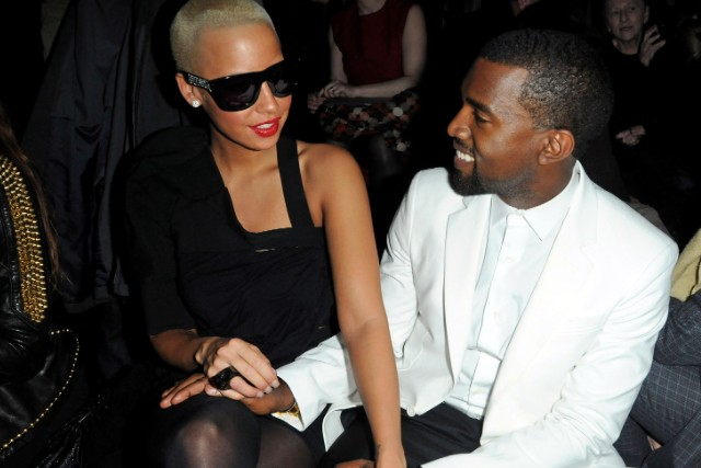 Kanye West and ex-girlfriend Amber Rose.