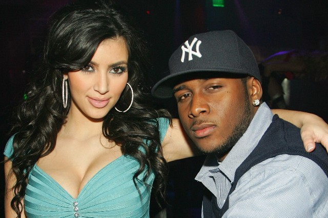 Kim Kardashian with ex-boyfriend Reggie Bush.