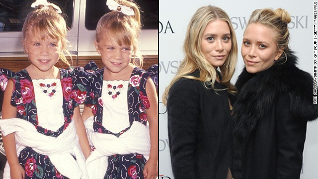 "Mary-Kate and Ashley Olsen have been in the entertainment industry since they were literally in diapers -- the pair took turns playing Michelle Tanner on ""Full House"" from 1987 to 1995. They went on to star in their own movies, but these days the twins are better known for their fashion lines, Elizabeth and James and The Row."