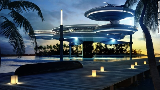 The sleek design, which can cost up to $50 million, is now set to be built on the remote tropical island of Kuredhivaru in the Maldives.