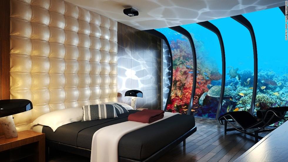 Un hotel submarino para alojarse bajo el mar en maldivas cnn for Habitacion de hotel bajo el mar