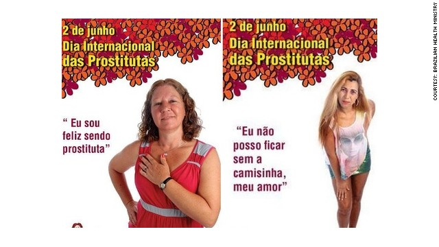 Poster from the campaign for the International Day of Prostitutes features the phrase