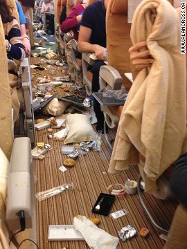 A Singapore to London flight suddenly dropped 20 meters after breakfast was served, leading to chaotic scenes onboard.